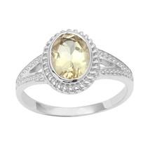 Classic 1.70 Carat Lemon Gemstone 925 Sterling Silver Women Ring Sz 7 SH... - $14.01