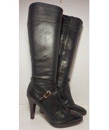 Banana Republic Black Leather Knee Length Boots 6 1/2 - $21.77