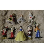 8 SMALL DISNEY MICKEY MINNIE MOUSE GOOFY ALICE IN WONDERLAND + FIGURINES... - $28.95