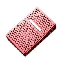 Cigarette Holder Case Aluminium Alloy Box Pocket Cigarette Storage Case RED