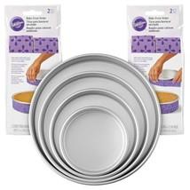 Wilton Bake-Even Strips and Round Cake Pan Set, 8-Piece - 6, 8, 10, 12 x... - $1.315,50 MXN