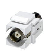 Cables Unlimited White BNC Keystone Jack White - $4.49