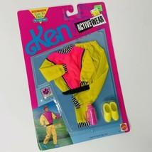 VTG Barbie Ken Active Wear, Arcotoys, #665,  Yellow pink Track Suit Wind... - $19.79