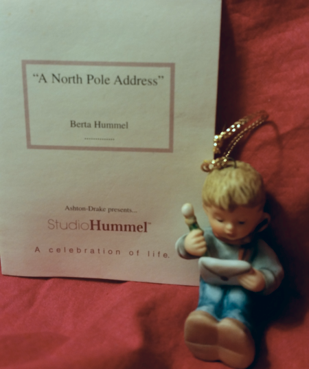 "Hummel ""A North Pole Address""Christmas Ornament 1999"