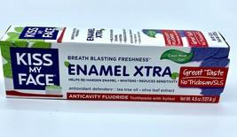 Kiss My Face Toothpaste Enamel Xtra Cool Mint Gel 4.5 oz - $10.88