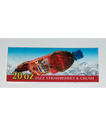 RARE Pepsi Jazz Discontinued Soda, Soft Drink Plastic 20oz Bottle Tag Si... - $12.85