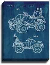 Children's Ride-On Toy Vehicle Patent Print Midnight Blue on Canvas - $39.95+