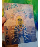 Artist signed post card - Etherium Gold Energies - Adama  - $8.00