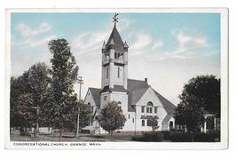 Congregational Church Orange MA Vintage White Border Postcard - $4.99