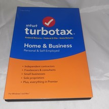 2018 Intuit™ TurboTax™ Home & Business Schedule C Federal CD Windows & Mac - $32.99