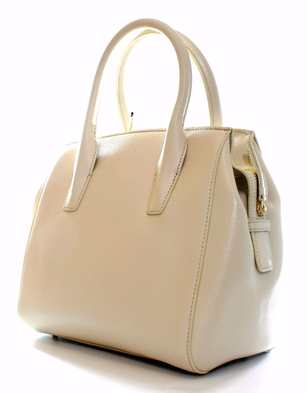 DKNY Donna Karan Sand Dollar Cream Leather Top Handle Bag Medium Handbag RRP£265