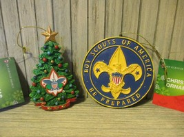 BOY SCOUTS of AMERICA - Set of 2 Ornaments - New with Tags - $10.00