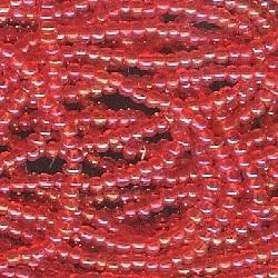 Seed bead rocaille full hank orange 5