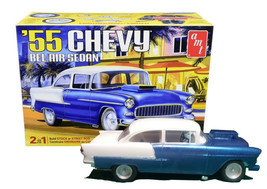 AMT '55 Chevy Bel Air Sedan 1:25 Scale 2 in 1 Model Kit New in Box - $26.88