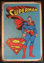 "Superman Comics Wall Metal Sign plate Home decor 11.75"" x 7.8"""