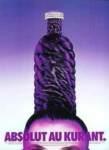 Absolut Vodka Bottle Graphic Art Campaign AD Distillery 1996 Absolut Au ... - $14.99