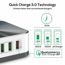 Fast Phone Charger Adapter 8-Port Quick 3.0 USB Charge EU US UK AU Plug ... - $36.09
