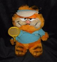 """8 """" Vintage R Dakin Baby Garfield W / Tennis Schläger Sport Plüschtier Plüsch - $17.23"""