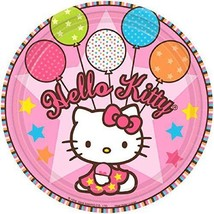 "Hello Kitty Balloon Dreams 7"" Paper Plates (8 Count) - $7.66"