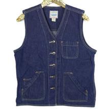 St Johns Bay Womens Jean Jacket Vest Size L Large V-Neck - €44,40 EUR