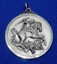 Creed Sterling Silver St. Saint George Guard Us Vintage Charm Pendant - $49.00