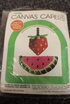 Canvas capers needleart kit 19080 Garden Fresh Magnets, factory sealed! - $10.00