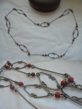 Vintage NECKLACE in silver 800 and Mediterranean CORAL ORIGINAL 1960s In... - $59.00