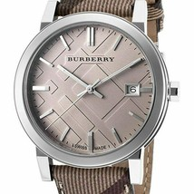 Burberry Embossed Beige 38mm Dial Beige Leather Strap Ladies Womens Unisex Watch - $249.95