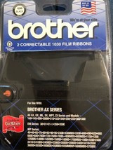 Genuine Brother 1230 Black Correctable 1030 Film Ribbons (2 Pack) Factory Sealed - $12.86