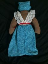 """Handmade Dona Nana Soft 11"""" Rag Doll Puerto Rico Signed by Artist image 4"""