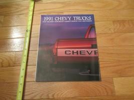 Chevrolet Trucks Chevy 1991 Poster Car truck Dealer Showroom Sales Brochure - $9.99
