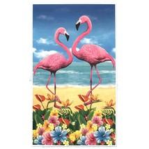 Luau TROPICAL BIRD FLAMINGO DOOR COVER Mural Wall Hanging Beach Party De... - $4.92