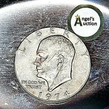 Eisenhower 1974 D Silver Dollar AA19$-CN6011