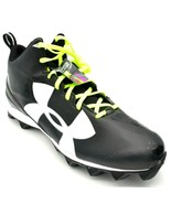 Under Armour Mens Armour Bound High Top Cleats Sz 16 Black New - $49.49