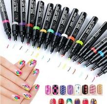 16 Colors Set Nail Art Pen for 3D Nail Art DIY Decoration Nail Polish Pen Set