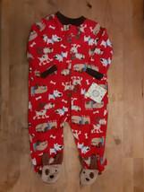 Little Me Infant's Footie Fleece Pajama, Red, 6M - $14.84