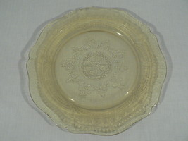 "Federal Patrician Amber Depression Yellow Glass Dinner Plate - Platter 11"" - $22.72"