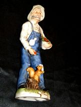 Figurine of a Farmer with Squirrel Homco 1434 AA19-1618 Vintage image 5