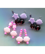 sea shell charms starfish charms lot sea life jewelry purple pink glass ... - $2.50