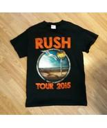 2015 RUSH CONCERT T SHIRT small  R40 TOUR NORTH AMERICA BLACK RED EUC - $14.85