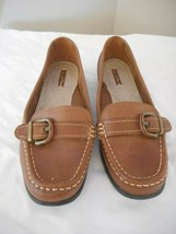 Thom McAn Size 7.5 Women's Brown Leather slip on Shoe - $24.74