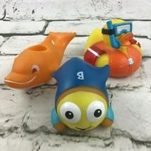 Rubber Bath Toys Munchkin Water Temp Duck Goldfish Swim School Lot of 3 - $11.88