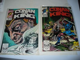 LOT OF 2 CONAN THE KING #45, #46 MARVEL COMIC BOOK BAGGED/BOARDED VINTAGE - $3.96