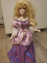 disney princess porcelain Rapunzel doll 17 inches Stand Included  - $29.70