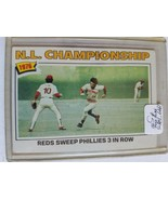 1977 Topps #277 NL Championship/Pete Rose : Cincinnati Reds (B) - $4.04