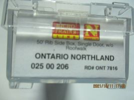 Micro-Trains Stock # 02500206 Ontario Northland 50' Rib Side Boxcar N-Scale image 5