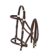 Tough 1 Aussie Leather Horse Bridle Halter Combination Australian Brown ... - $57.41
