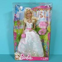 Barbie Wedding Day Dress Beautiful Bride Doll Bouquet Ring 2011 Mattel N... - $34.95
