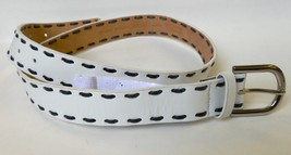 Michael Kors Belt Stitched Genuine Leather White  Sz. M MSRP 58.00 - $15.84