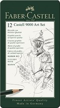 Faber-Castell 9000 Graphite Sketch Pencil Sets Art 8B - 2H set of 12 - $25.99